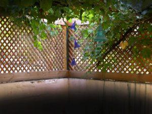 גדר רשת עץ