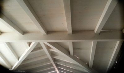 גג עץ לחניה בירושלים