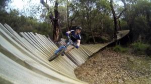 מסלול רכיבת אופניים מעץ